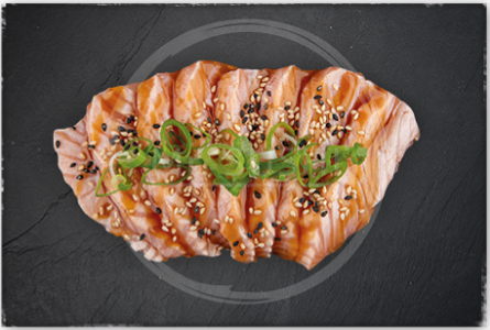 Foto Flamed Salmon Sashimi